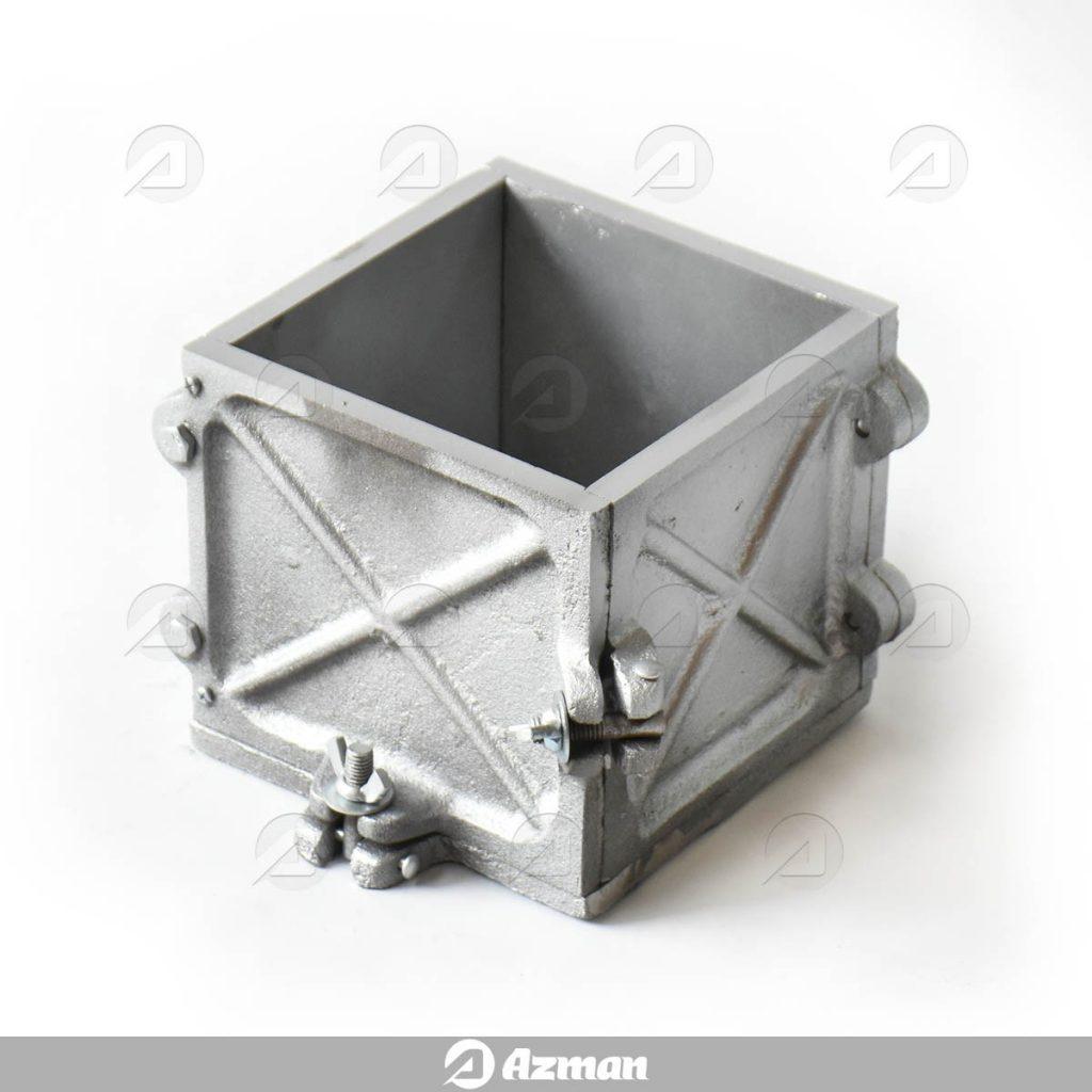 قالب مکعب چدنی بتن