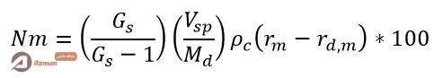 رابطه درصد عبوری برای هیدرمتر 151h