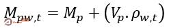 محاسبه جرم پیکنومتر و آب در دمای آزمایش