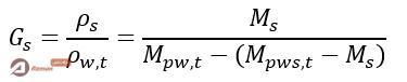محاسبه چگالی ویژه ذرات جامد خاک
