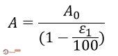 متوسط مساحت مقطع عرضی در آزمایش تک محوری