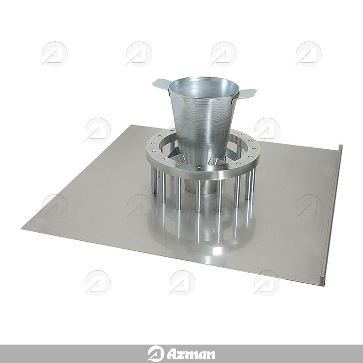 دستگاه حلقه J برای تعیین کار پذیری بتن خود تراکم