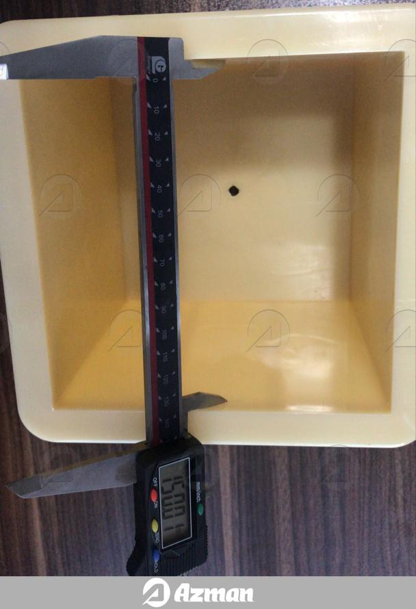 قالب مکعبی یک تکه پلاستیکی آزمایشگاهی
