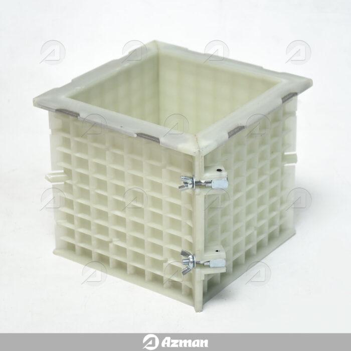 قالب پلاستیکی آزمایشگاهی بتن دو تکه