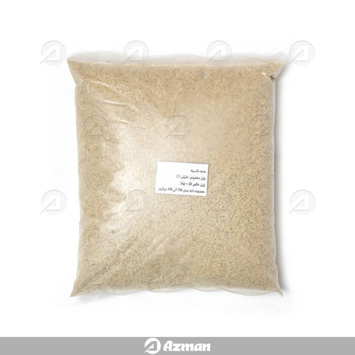 ماسه استاندارد برای آزمایش وزن مخصوص