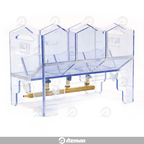 محفظه تبادل مایع سلول RCMT با اتصالات شیر و بلوک برنجی